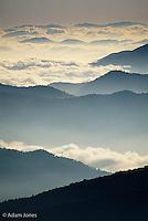 Appalachian Mountain ridges at dawn, Great Smoky Mountains National Park, North Carolina.