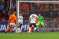 goal, Tor zum 2:3 für Nico Schulz (Deutschland Germany), Ballannahme vor dem Tor  - 24.03.2019: Niederlande vs. Deutschland, EM-Qualifikation, Amsterdam Arena, DISCLAIMER: DFB regulations prohibit any use of photographs as image sequences and/or quasi-video.