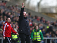 Michael Appleton manager of Oxford United reacts   during the Emirates FA Cup 3rd Round between Oxford United v Swansea     played at Kassam Stadium  on 10th January 2016 in Oxford