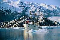 Tourist aboard the Discovery, College Fjord, Prince William Sound, Alaska