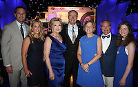 NWA Democrat-Gazette/CARIN SCHOPPMEYER Walmart Chief Executive Officer Doug and Shelley McMillon (from left), Gov. Asa and Susan Hutchinson, Arkansas Children's Hospitial Chief Executive Officer Marcy and Mark Doderer and Katie Doderer gather at the Color of Hope Gala.