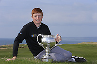 Ronan Mullarney (MU) winner of the Irish Students Amateur Open Championship, Tralee Golf Club, Tralee, Co Kerry, Ireland. 12/04/2018.<br /> Picture: Golffile | Fran Caffrey<br /> <br /> <br /> All photo usage must carry mandatory copyright credit (&copy; Golffile | Fran Caffrey)