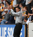 Wrexham manager Dean Saunders applauds the fans before the Blue Square Premier match between Cambridge United and Wrexham at the Abbey Stadium, Cambridge on 19th September, 2009..© Kevin Coleman 2009 .