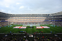General view of Twickenham Stadium during the national anthems during the QBE Autumn International match for the Cook Cup between England and Australia at Twickenham on Saturday 2nd November 2013 (Photo by Rob Munro)