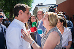 Neighbor of  Puente de Vallecas during the visit of President of Ciudadanos, Albert Rivera, and vice mayor of Madrid, Begona Villacis, to the neighbors affected by the squatting in Puente de Vallecas, Madrid. September 26, 2019. (ALTERPHOTOS/Francis González)