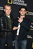 Antonio Banderas and Alex Rich, both play Picasso, attend the National Geographic's &quot;Genius: Picasso&quot; at the unveiling of Genius: Studio Art Lab in New York City, New York, USA on April 19, 2018. <br /> <br /> photo by Robin Platzer/Twin Images<br />  <br /> phone number 212-935-0770