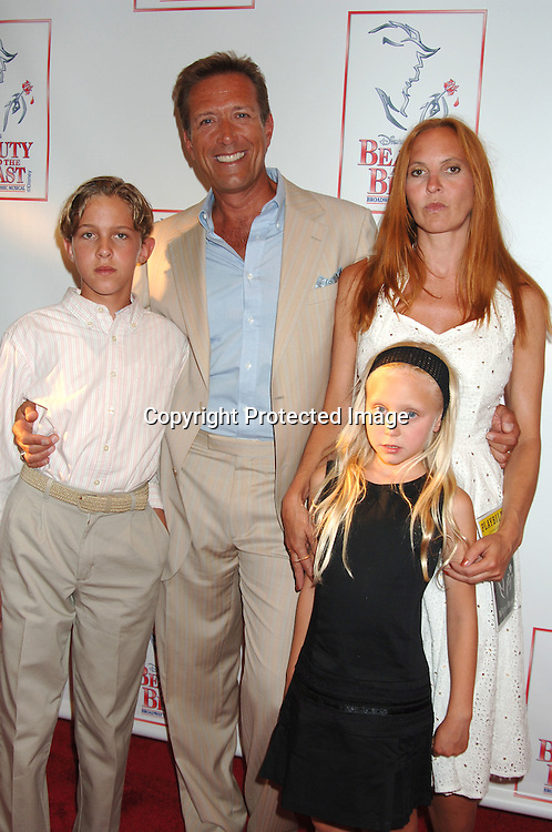 "Walt Willey and wife Marie, son Chance and daughter Merit..at The 5000th performance of ""Beauty and The Beast""..on June 20, 2006 at The Lunt-Fontanne Theatre...Jacob Young of All My Children is starring as Lumiere. ..Robin Platzer, Twin Images"
