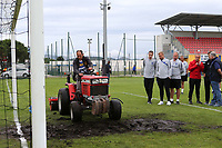 England coaching staff look on as ground staff continue to work on the pitch during Guatemala Under-23 vs England Under-20, Tournoi Maurice Revello Football at Stade Marcel Cerdan on 11th June 2019