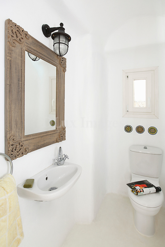 cycladic bathroom