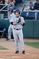 August 24, 2010: Tri-City Dust Devils' Nathan Hines (1) at-bat during a Northwest League game against the Everett AquaSox at Everett Memorial Stadium in Everett, Washington.