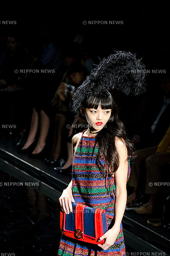 October 21st, 2011: Tokyo, Japan – A model walks down the catwalk wearing KEITA MARUYAMA TOKYO PARIS during Mercedes-Benz Fashion Week Tokyo 2012 Spring/Summer. The Mercedes-Benz Fashion Week Tokyo runs from October 16-22. (Photo by Yumeto Yamazaki/AFLO)