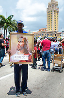 Jesus Did It at Miami Heat NBA 2013 Championship parade, Biscayne Boulevard, American Airlines Arena, Miami, FL, June 24, 2013