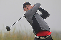 Jake Rowe (Tandragee) on the 1st tee during Round 1 - Matchplay of the North of Ireland Championship at Royal Portrush Golf Club, Portrush, Co. Antrim on Wednesday 11th July 2018.<br /> Picture:  Thos Caffrey / Golffile