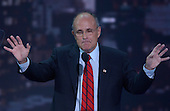 New York, NY - August 30, 2004 --  Former New York Mayor Rudy Giuliani speaks at the 2004 Republican Convention in Madison Square Garden in New York on August 30, 2004..Credit: Ron Sachs / CNP.(RESTRICTION: No New York Metro or other Newspapers within a 75 mile radius of New York City)