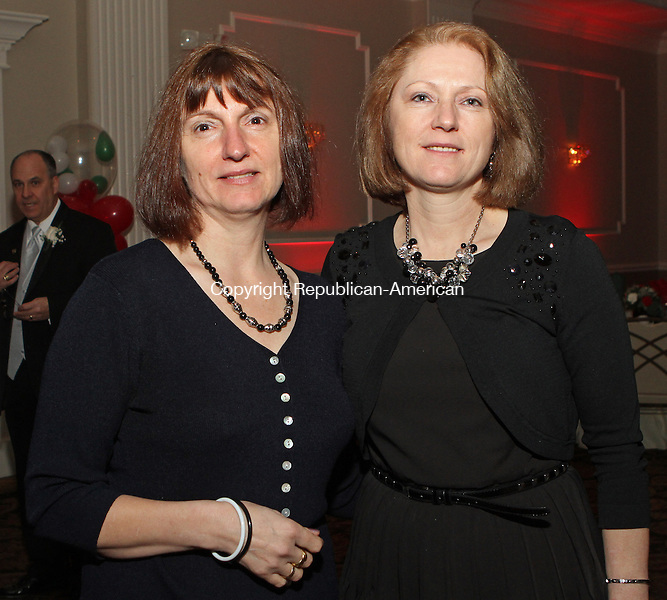 WATERBURY, CT-26 January 012613MK25 ( from left) Patrizia Guerrera and Franca Polletta gathered at the gala to install new officers at the Pontelandolfo Club in Waterbury on Saturday night. Michael Kabelka / Republican-American