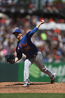 SAN FRANCISCO, CA - JULY 20:  Justin Wilson #38 of the New York Mets pitches against the San Francisco Giants during the game at Oracle Park on Saturday, July 20, 2019 in San Francisco, California. (Photo by Brad Mangin)