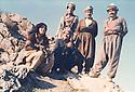 Iraq 1980 <br />  Visit in  Nawzang of Mohammed Chawki, Pasok party, on right Mullazem Omar Abdallah  <br /> IraK 1980 <br /> A Nawzang, Mohammed Chawki de Pasok visitant l'UPK, a droite, Mullazem Omar Abdallah