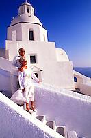 White Buildings in Santorini, Greece