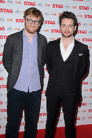 """Brian Gleeson and Michael Legge arrives for the premiere of """"The Stag"""" at the Vue Leicester Square, London. 13/03/2014 Picture by: Steve Vas / Featureflash"""