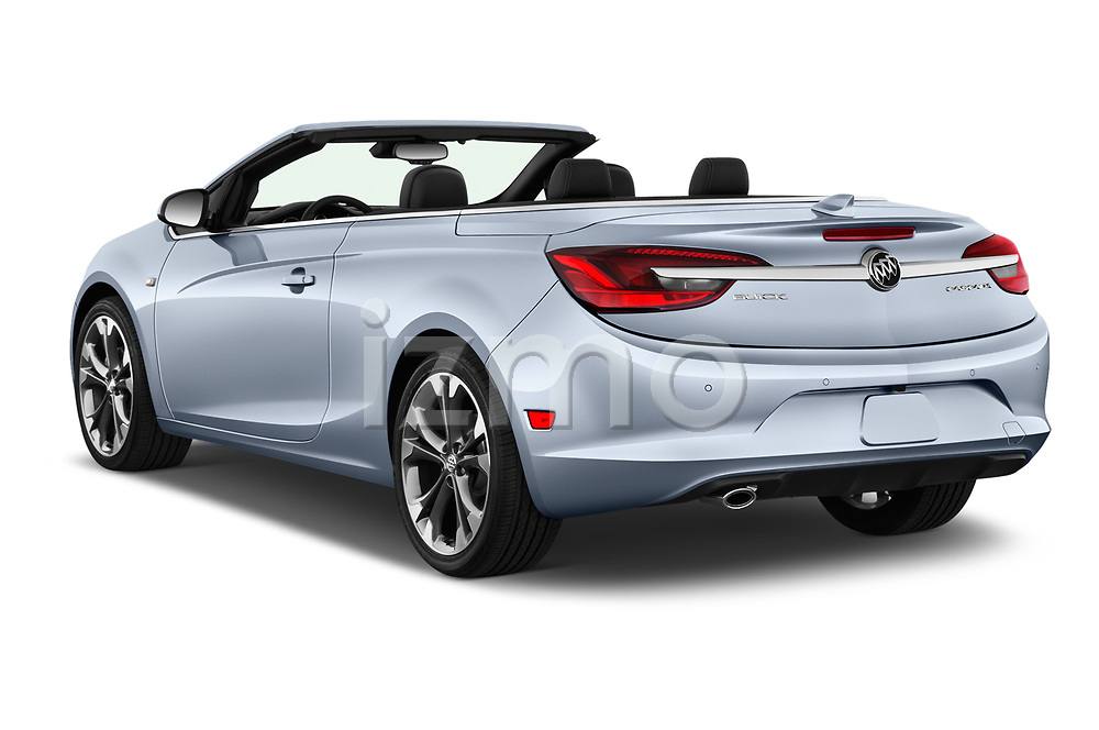 Car pictures of rear three quarter view of 2016 Buick Cascada Premium 2 Door Convertible Angular Rear
