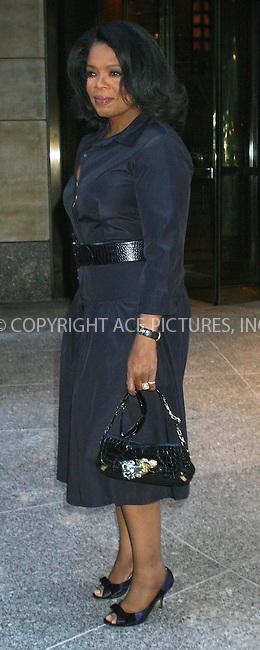 WWW.ACEPIXS.COM *** NO U.K. NEWSPAPERS SALES ***....NEW YORK, APRIL 2006....Oprah seen in New York City.....Please byline: R. BOCKLET-ACEPIXS.COM  ..  ***  ..Ace Pictures, Inc:  ..(212) 243-8787 or (646) 769 0430..e-mail: picturedesk@acepixs.com..web: http://www.acepixs.com