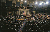United States President George H.W. Bush speaks to a Joint Session of the U.S. Congress on the situation with Iraq and the Persian Gulf and on the federal deficit in the U.S. Capitol in Washington, D.C. on September 11, 1990. <br /> Credit: Ron Sachs / CNP