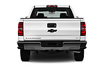 Straight rear view of 2017 Chevrolet Silverado-1500 LT-Crew 4 Door Pick-up Rear View  stock images