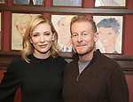Cate Blanchett and Richard Roxburgh attend the Cate Blanchett and Richard Roxburgh Caricature Unveiling at Sardi's on March 14, 2017 in New York City.