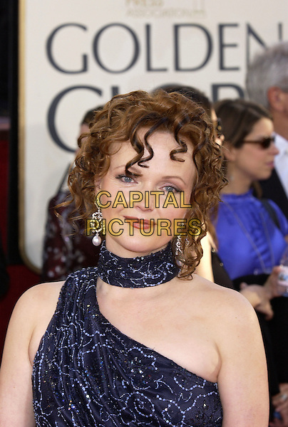 MIRANDA RICHARDSON.62nd Annual Golden Globe Awards - Arrivals at the Beverly Hilton Hotel, Beverly Hills, Los Angeles, California..January 16th, 2005.headshot, portrait, ringlets, one shoulder, scarf, pearl earrings.www.capitalpictures.com.sales@capitalpictures.com.©Capital Pictures