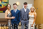 Attending the Gaelcholaiste Chiarrai Debs in the Ballyroe Heights Hotel on Saturday night.L-r, Nicole Mesaors, Tom Guerin, Aodhan McKenna and Laura Hynes.