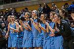 GRAND RAPIDS, MI - MARCH 18: Tufts University bench cheers after a basket during the Division III Women's Basketball Championship held at Van Noord Arena on March 18, 2017 in Grand Rapids, Michigan. Amherst College defeated Tufts University 52-29 for the national title. (Photo by Brady Kenniston/NCAA Photos via Getty Images)