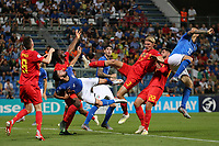 Patrick Cutrone of Italy and Sebastiaan Bornauw of Belgium  compete for the ball<br /> Reggio Emilia 22-06-2019 Stadio Città del Tricolore <br /> Football UEFA Under 21 Championship Italy 2019<br /> Group Stage - Final Tournament Group A<br /> Belgium - Italy<br /> Photo Cesare Purini / Insidefoto