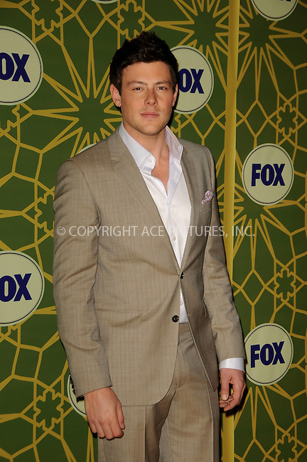 WWW.ACEPIXS.COM . . . . .  ....January 8 2012, LA....Cory Monteith arriving at Fox's All-Star Party at Castle Green on January 8, 2012 in Pasadena, California.....Please byline: PETER WEST - ACE PICTURES.... *** ***..Ace Pictures, Inc:  ..Philip Vaughan (212) 243-8787 or (646) 679 0430..e-mail: info@acepixs.com..web: http://www.acepixs.com