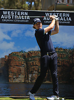 Sean Crocker (USA) in action on the 5th during the Matchplay rounds of the ISPS Handa World Super 6 Perth at Lake Karrinyup Country Club on the Sunday 11th February 2018.<br /> Picture:  Thos Caffrey / www.golffile.ie<br /> <br /> All photo usage must carry mandatory copyright credit (&copy; Golffile   Thos Caffrey)