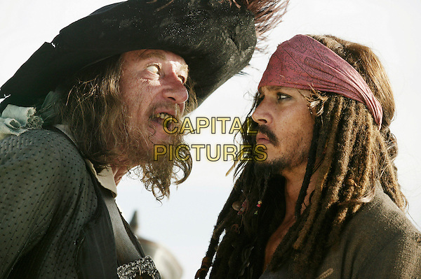 GEOFFREY RUSH & JOHNNY DEPP.in Pirates of the Caribbean: At World's End.3 .**Editorial Use Only**.CAP/FB.Supplied by Capital Pictures
