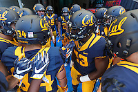 SYDNEY, AUSTRALIA - August 27, 2016:  Cal Bears Football vs. Hawaii Rainbow Warriors at ANZ Stadium.  Cal Bears 51, Hawaii Rainbow Warriors 31.