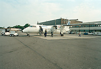 Juli 1994. Luchthaven van Deurne.Vliegtuig van Sabena.