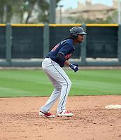Oscar Gonzalez - Cleveland Indians 2020 spring training (Bill Mitchell)