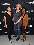 Alison Wright, Johanna Day and Michelle Wilson attends the photocall for the Broadway cast of 'Sweat'  at The New 42nd Street Studios on 2/16/2017 in New York City.