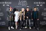 Oscar Jaenada, Joana Ribeiro, British director Terry Gilliam, Sergi Lopez and Jordi Molla attends to presentation of 'El hombre que mato a Don Quijote' (The man who killed Don Quixote) at NH Eurobuilding Hotel in Madrid, Spain. May 29, 2018. (ALTERPHOTOS/Borja B.Hojas)