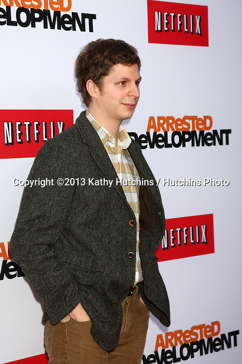 """LOS ANGELES - APR 29:  Michael Cera arrives at the """"Arrested Development"""" Los Angeles Premiere at the Chinese Theater on April 29, 2013 in Los Angeles, CA"""