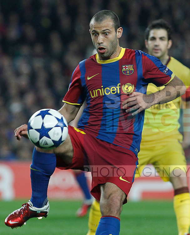 FC Barcelona's Javier Mascherano during UEFA Champions League match.
