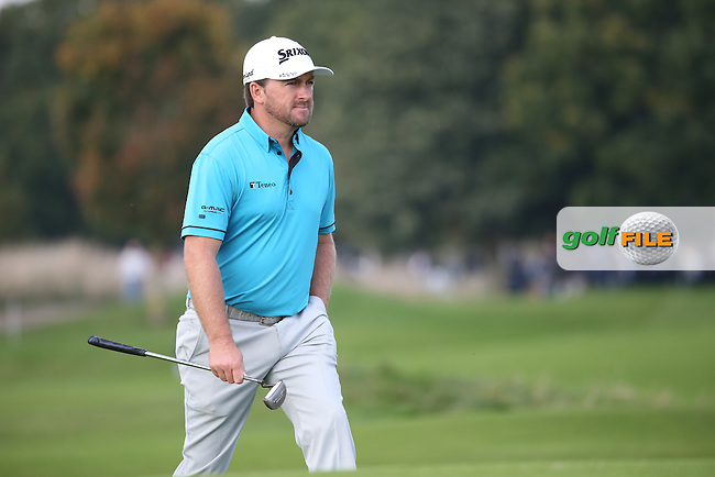 Graeme McDowell (NIR) heads to the 10th during Round Three at the The British Masters 2016, at The Grove, Hertfordshire, England. 15/10/2016. Picture: David Lloyd | Golffile.