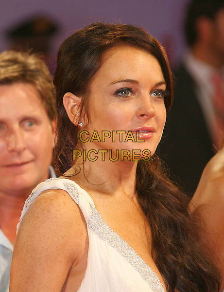 "LINDSAY LOHAN.""Bobby"" Premiere during The 63rd International Venice Film Festival held at Palazzo del Cinema, Lido, Italy..September 5th, 2006.Ref: ADM/ZL.headshot portrait.www.capitalpictures.com.sales@capitalpictures.com.©Zach Lipp/AdMedia/Capital Pictures."