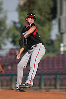 Zech Lemond (30) of the Lake Elsinore Storm pitches against the Inland Empire 66ers at San Manuel Stadium on July 31, 2016 in San Bernardino, California. Inland Empire defeated Lake Elsinore, 8-7. (Larry Goren/Four Seam Images)