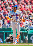 5 April 2018: New York Mets outfielder Yoenis Cespedes in action against the Washington Nationals during the Nationals' Home Opener at Nationals Park in Washington, DC. The Mets defeated the Nationals 8-2 in the first game of their 3-game series. Mandatory Credit: Ed Wolfstein Photo *** RAW (NEF) Image File Available ***