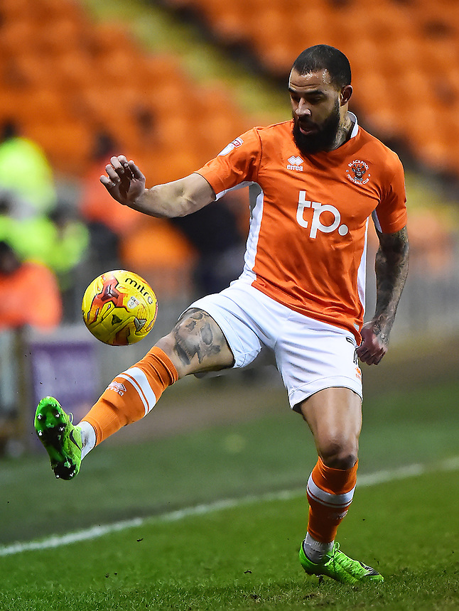 Blackpool's Kyle Vassell in action<br /> <br /> Photographer Richard Martin-Roberts/CameraSport<br /> <br /> The EFL Sky Bet League Two - Blackpool v Crawley Town - Tuesday 7th February 2017 - Bloomfield Road - Blackpool<br /> <br /> World Copyright &copy; 2017 CameraSport. All rights reserved. 43 Linden Ave. Countesthorpe. Leicester. England. LE8 5PG - Tel: +44 (0) 116 277 4147 - admin@camerasport.com - www.camerasport.com