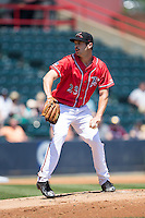 Richmond Flying Squirrels starting pitcher Jack Snodgrass (23) in action against the Bowie Baysox at The Diamond on May 24, 2015 in Richmond, Virginia.  The Flying Squirrels defeated the Baysox 5-2.  (Brian Westerholt/Four Seam Images)