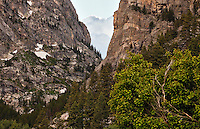The mouth of Death Canyon, a stunning and strenuous hike in Grand Teton National Park, Wyoming.