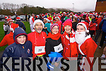 Sean Cahill, Denis Cahill, Brenda Cahill, Sharon Cahill and Aoife Cahill, all taking part in the Santa 5k run at Tralee Bay Wetlands on Sunday.